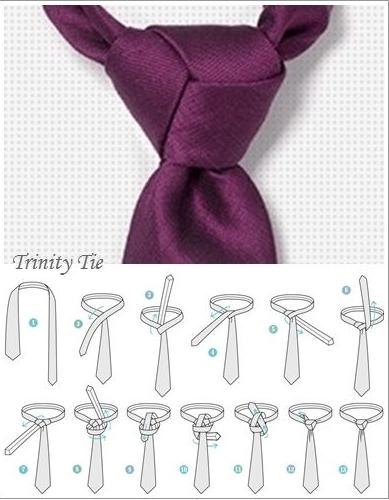 Instrucciones nudo de corbata Trinity