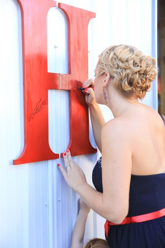letras boda para firmar