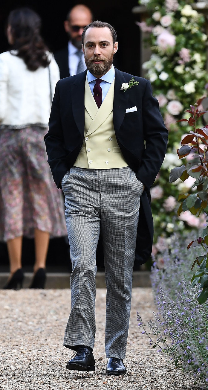 James Middleton, brother of the bride, attends the wedding of Pippa Middleton and James Matthews at St Mark's Church in Englefield, west of London, on May 20, 2017. Pippa Middleton hit the headlines with a figure-hugging outfit at her sister Kate's wedding to Prince William but now the world-famous bridesmaid is becoming a bride herself. Once again, all eyes will be on her dress as the 33-year-old marries financier James Matthews on Saturday at a lavish society wedding where William and Kate's children will play starring roles. / AFP PHOTO / POOL / Justin TALLIS (Photo credit should read JUSTIN TALLIS/AFP/Getty Images)