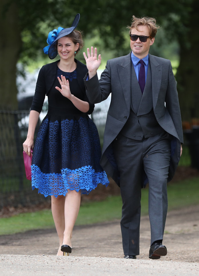 Pippa Middleton wedding. Guests arrive ahead of the wedding of the Duchess of Cambridge's sister Pippa Middleton to her millionaire groom James Matthews, dubbed the society wedding of the year at, St Mark's church in Englefield, Berkshire. Picture date: Saturday May 20, 2017. See PA story ROYAL Pippa. Photo credit should read: Andrew Matthews/PA Wire URN:31378573
