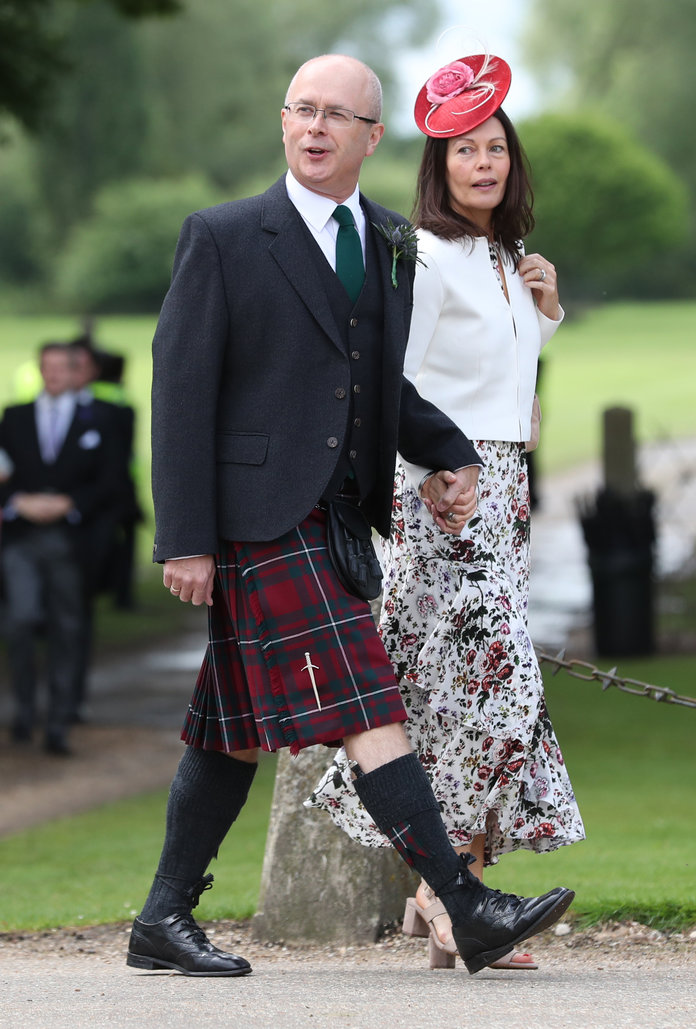 Pippa Middleton wedding. Guests arrive ahead of the wedding of the Duchess of Cambridge's sister Pippa Middleton to her millionaire groom James Matthews, dubbed the society wedding of the year at, St Mark's church in Englefield, Berkshire. Picture date: Saturday May 20, 2017. See PA story ROYAL Pippa. Photo credit should read: Andrew Matthews/PA Wire URN:31378576