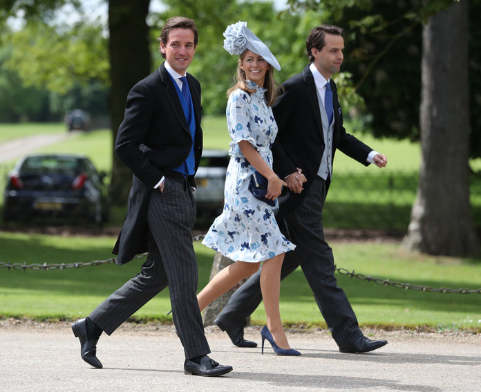 Pippa Middleton wedding. Guests arrive ahead of the wedding of the Duchess of Cambridge's sister Pippa Middleton to her millionaire groom James Matthews, dubbed the society wedding of the year at, St Mark's church in Englefield, Berkshire. Picture date: Saturday May 20, 2017. See PA story ROYAL Pippa. Photo credit should read: Andrew Matthews/PA Wire URN:31378577