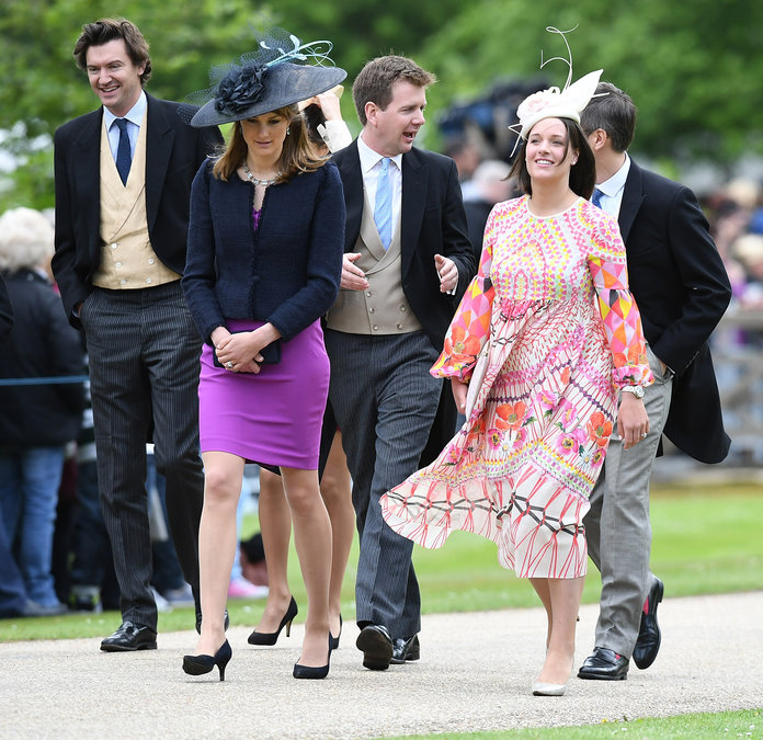 ENGLEFIELD GREEN, ENGLAND - MAY 20: Guests attend the wedding of Pippa Middleton and James Matthews at St Mark's Church on May 20, 2017 in Englefield Green, England. (Photo by Samir Hussein/Samir Hussein/WireImage)