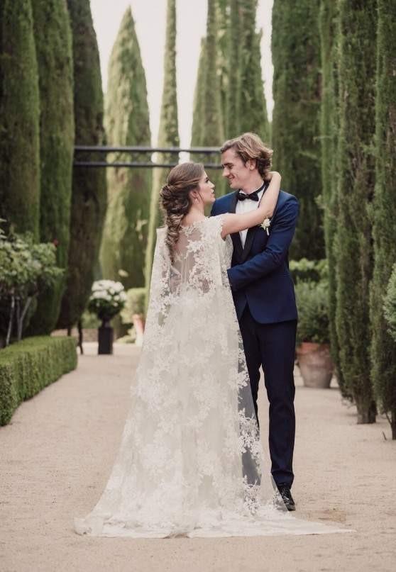 Antoine Griezmann y Erika Choperena.